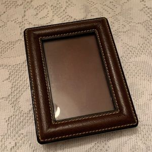 Rare Gucci Vintage Leather Picture Frame